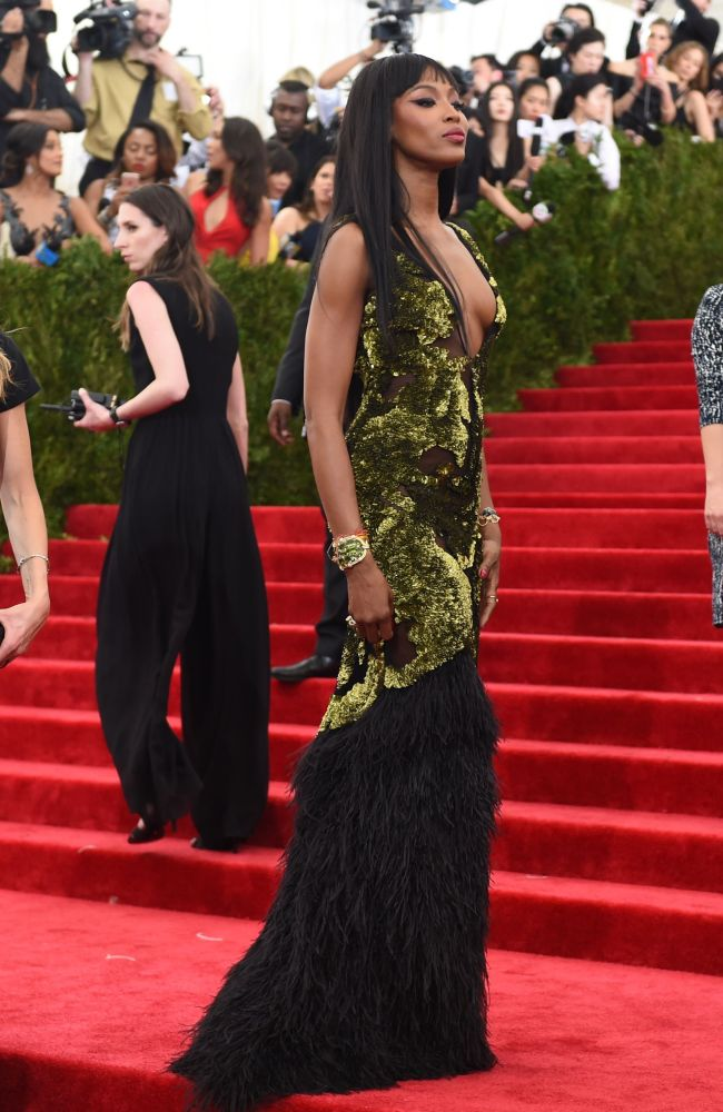 Naomi Campbell ở Costume Institute Ball, New York