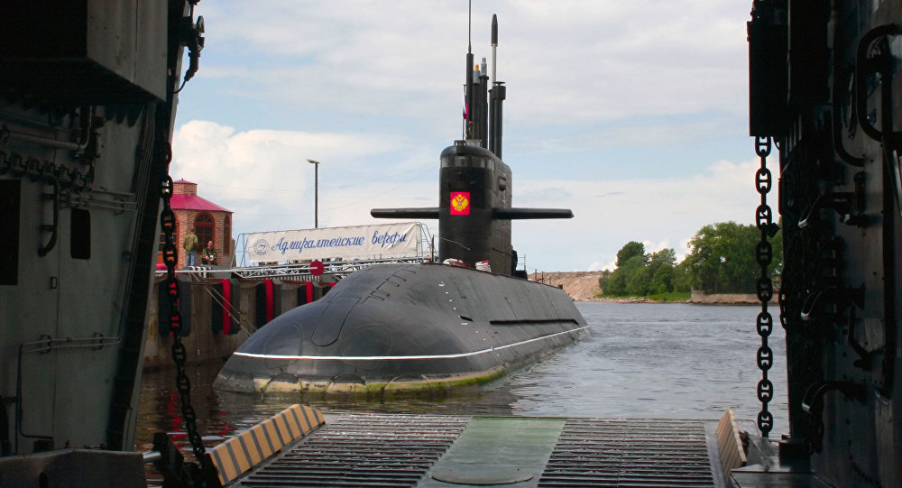 Open-water trials of the diesel submarine St. Petersburg during project Lada