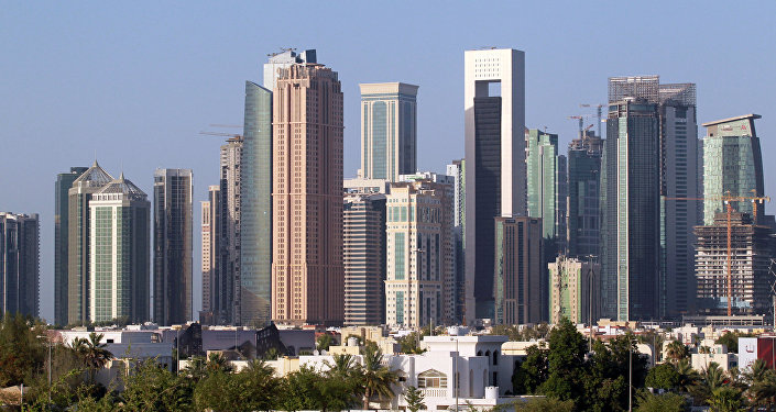 A view shows buildings in Doha, Qatar, June 9, 2017.