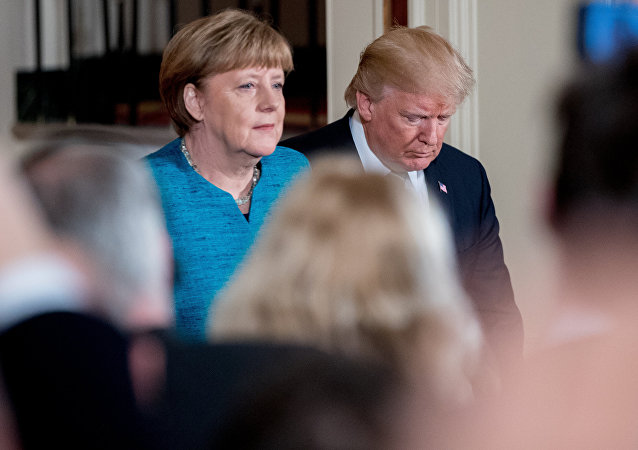 Angela Merkel và Donald Trump
