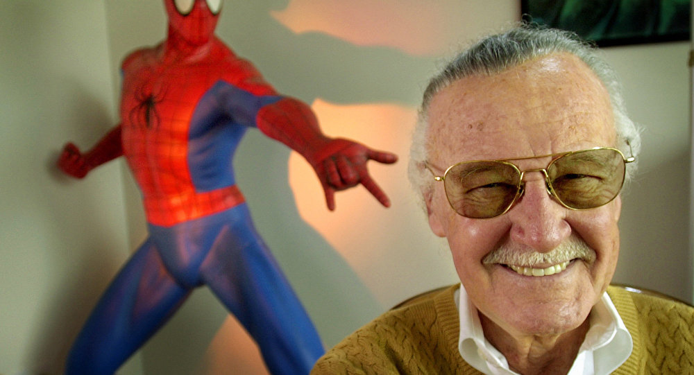 Stan Lee, 79, creator of comic-book franchises such as Spider-Man, The Incredible Hulk and X-Men, smiles during a photo session April 16, 2002, in his office in Santa Monica, Calif. Lee, who has a minor role in the upcoming Sony Pictures film Spider-Man, opening in May, has weathered financial trouble in recent years.