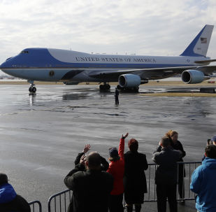 Самолет Boeing-747 президента США Дональда Трампа Air Force One
