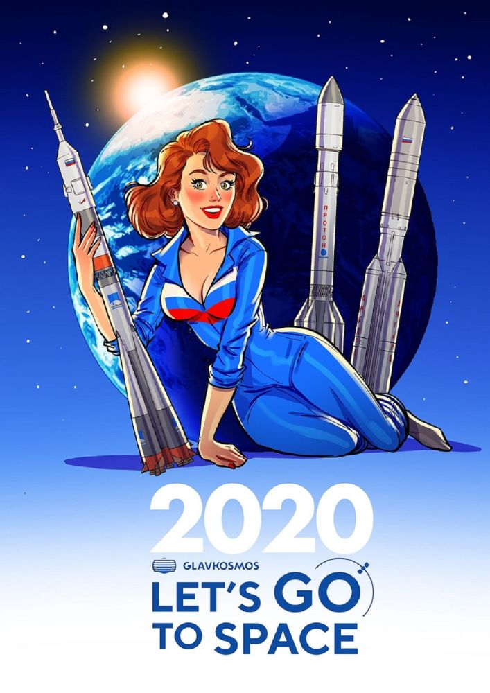 Bộ lịch pin-up năm 2020 của Roscosmos: Let`s go to space