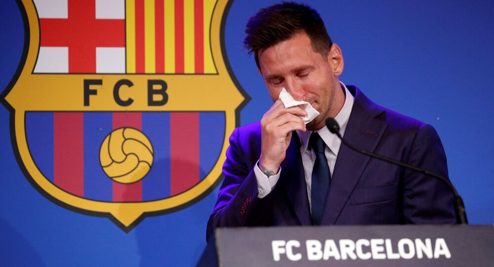 Lionel Messi trong cuộc họp báo