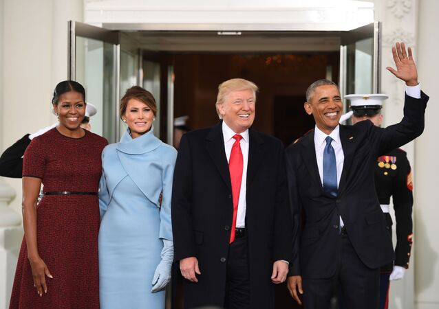 Michelle Obama, Melania Trump, Donald Trump, Barack Obama