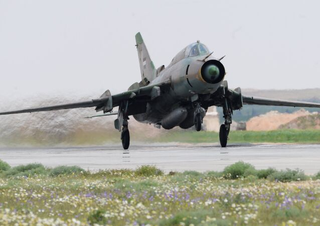 Syrian Air Forces resume flights from Ash Sha'irat air base