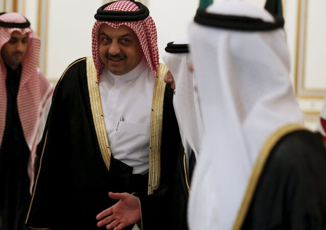 Qatar's Foreign Minister Khalid bin Mohammad Al-Attiyah attends a meeting for Gulf states Foreign Ministers in Riyadh, December 7, 2015