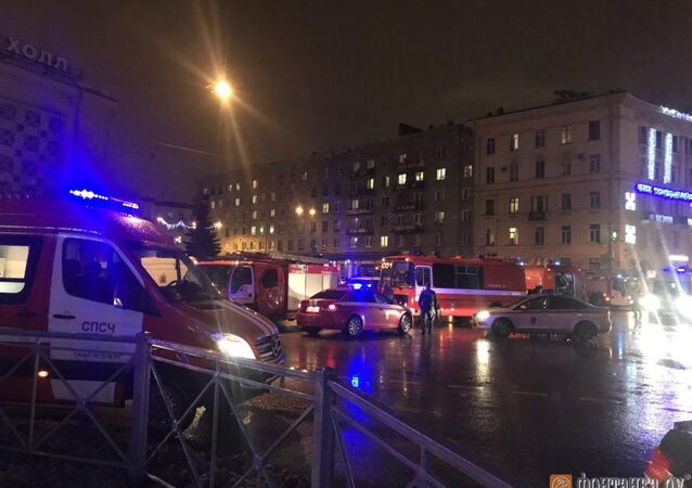 Explosion in a shop in the Russian city of St. Petersburg on December 27, 2017