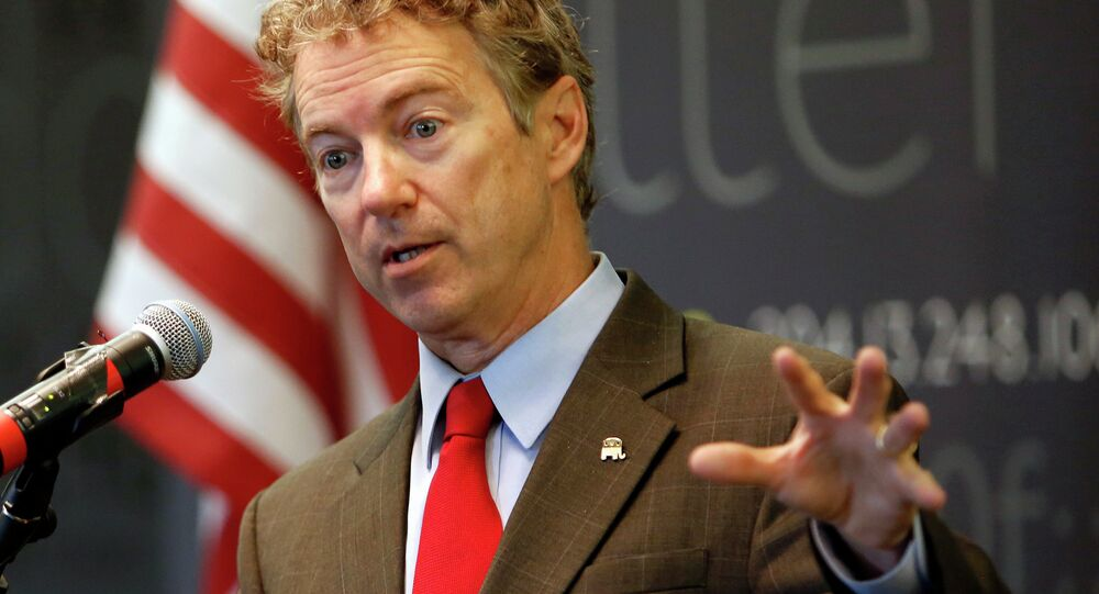 In this March 20, 2015, file photo, Sen., Rand Paul, R-Ky. speaks in Manchester, N.H.