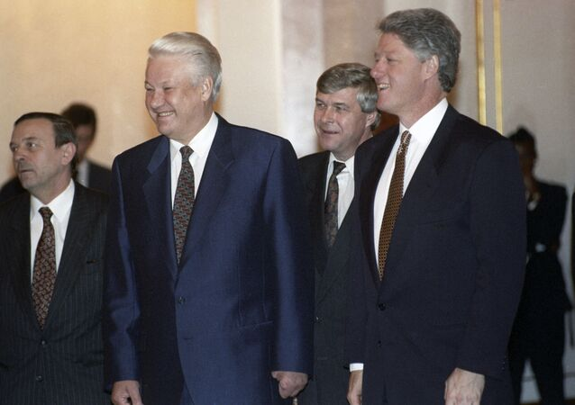 Boris Yeltsin và Bill Clinton