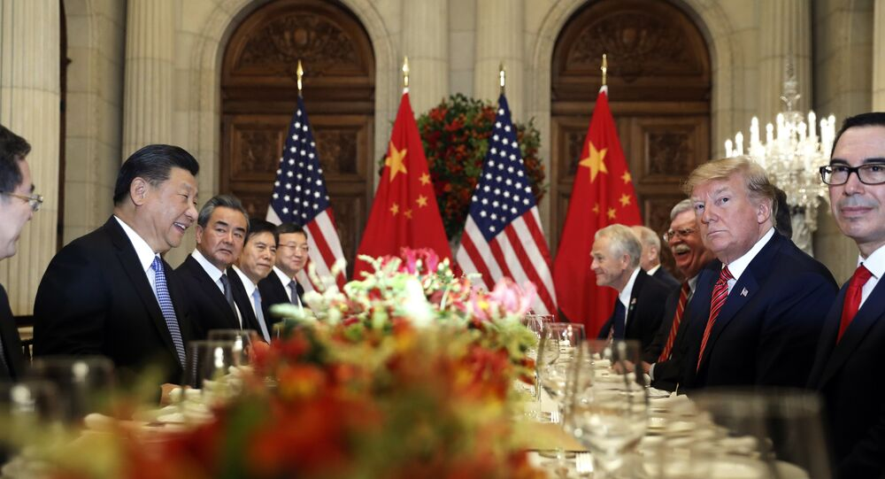 U.S. President Donald Trump, second right, and China's President Xi Jinping, second left, attend their bilateral meeting at the G20 Summit in Buenos Aires, Argentina.
